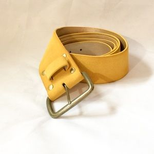 WCM New York Double Wrap Yellow Suede Belt